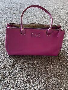 Kate Spade Magenta Leather Purse (CA57710)