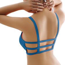 2017 Women Bralette Caged Back Cut Out Strappy Padded Bra Bralet Vest Crop Tops