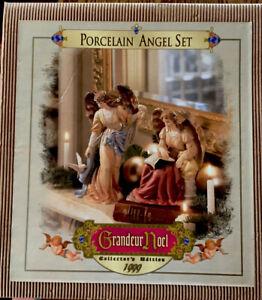 Grandeur Noel Collector's Edition Porcelain Angel Set N0120 1999