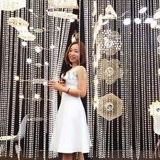 DIY Party Decor Garland Diamond Strand Acrylic Crystal Bead Curtain Wedding NEW