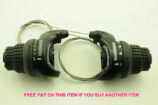 PAIR SHIMANO 5,10,15 SPEED REVOSHIFT GRIP SHIFT BIKE INDEX SHIFTERS SL-RS31