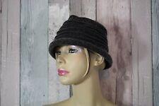Chapeau gris 100% laine  taille unique °°°F28B°°°°