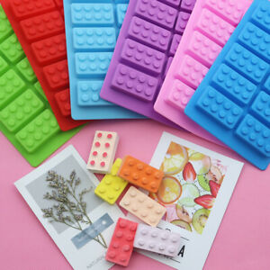 Building Bricks Blocks Silicone Chocolate Bar Mould Cookies Fondant Jelly Mold