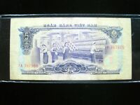 VIETNAM SOUTH 5 DONG 1966 VIET NAM SHARP 865# Currency Bank Money Banknote