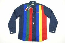 TOMMY HILFIGER JEANS DM04989 RETRO STRIPE XL RELAXED FIT BUTTON FRONT SHIRT