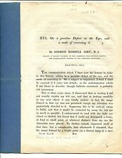 """AIRY, George Biddell. ON A PECULIAR DEFECT IN THE EYE, ...."""" 1827  ASTIGMATISM"""