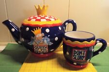 ~ Mary Engelbreight Tea Pot ~ Queen Of The Kitchen & Don'T Slurp Cup ~ Full Size
