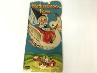 Mother Goose Farm Booklet Pamphlet Childrens Story Whitman Animals Pictures 1953