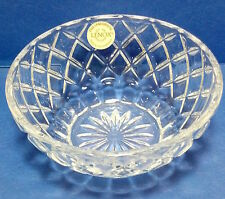 "Lenox full lead crystal candy/nut dish 5"" diameter."