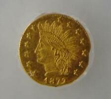 1872/1 California Fractional Gold BG-870, ICG MS 64 PL, PROOF LIKE, Beautiful!