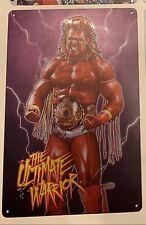 Ultimate Warrior Wwe Wwf Metal Tin Sign Poster Wcw