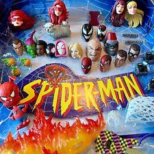 Marvel Legends Spider-man retro Miles Morales MJ Gwen Stacy Firestar Head UPICK