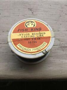 Fish King  Vintage Braided Nylon Fishing Line 50 Yd, 10# Test