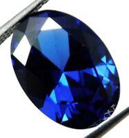 6.50 CT Natural Beautiful Ceylon Oval Cut Blue Sapphire Loose Gemstone.A-4810