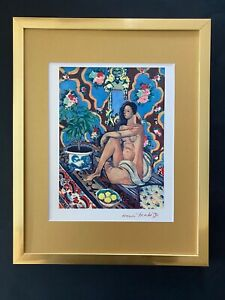 HENRI MATISSE CIRCA 1948 AWESOME SIGNED PRINT MATTED 11 X 14 + BUY IT NOW #1