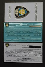 ** Rare ** NYPD Car Wash Authorization Coin (White Version)