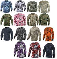 Long Sleeve T-Shirt Camo Tactical Military Crew Tee Undershirt Rothco