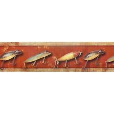 Antique Fishing Lures, Wallpaper Border LOD21301B (11.4cm x 4.57m Approx)
