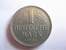 1954F German Federal Republic 1 Deutsche Mark KM# 110 RARE Date/mint!