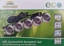 Heissner 5er Set Led Einbaulicht L169-T 12V 0,3 W Edelstahl beliebig erweiterbar
