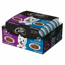 Cesar Filets Variety Pack - Beef Flavor Dog Food Trays, 3.5 oz. 12 Count