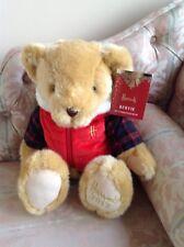"Harrods  2017 Christmas 13"" Bear Bertie 1st First birthday Wedding Anniversary"