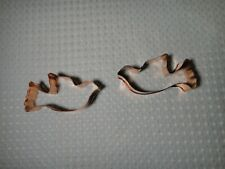 "Copper Dove Bird Cookie Cutter Lot of 2 Size 3 3/4"" x 2"""