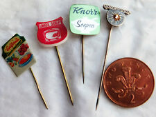 4 vintage Dutch pins Unox California Knorr Quick Soup food advertising badges O