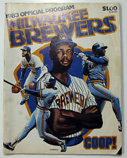 Milwaukee Brewers 1983 Official Game Program Cecil Cooper Cover A.L. Champs