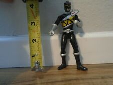 """New listing 4"""" Power Rangers Mighty Morphin Action Figure Black Toy Gift Kids"""