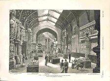 Paris Musée de Sculpture Palais du Trocadéro/Vierge d'Amiens Hermès GRAVURE 1882
