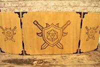Wooden Folding Dungeon Master Screen - Dungeons & Dragons RPG DM Screen, D&D DND