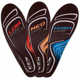 CCM Hockey Skates Custom Support Insole! JR & SR, High Med Low Arch footbeds