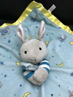 Goodnight Moon Baby Lovey Security Blanket with Bunny Plush Rabbit Head Boy Girl