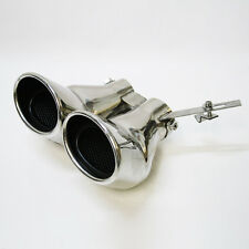 Twin Exhaust Tip Trim Pipe Muffler For Mercedes Benz AMG C Class W203 C240 C320