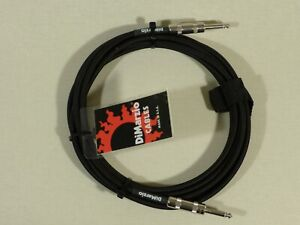 Dimarzio BLACK 4.57m 15 Foot Guitar Bass Quality Instrument Cable Lead USA Made