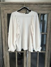 Marks And Spencer Limited Edition Vintage Cream Balloon Sleeve Size 12 Blouse