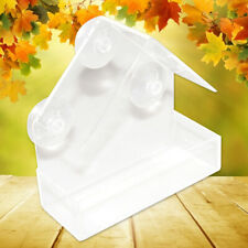 Acrylic Transparent Bird Squirrel Feeder Tray Birdhouse Window Suction Cup Tools