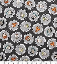 Flintstones 100% Cotton Fabric 1/4 Yard 9x44