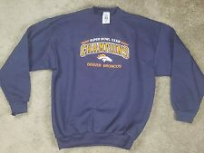 Logo 7 Denver Broncos Superbowl Champions XXXIII 33 Navy Embroidered Sweatshirt