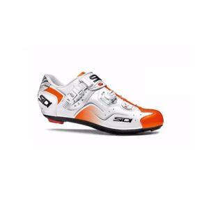 SIDI Kaos Road Cycling Shoes Bike Bicycle Shoes White/Orange Fluo Size 36-46 EUR