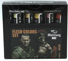 Abteilung 502 ABT301 Flesh Colors Set (6 Modelling Oils) Oil Paint Skin Skintone