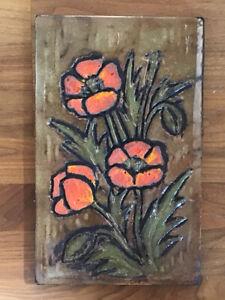 Wandbild Wandplatte Keramik 60er 70er Jahre Ruscha?
