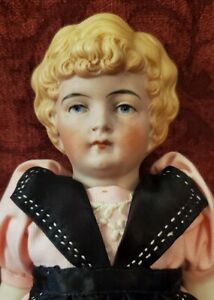 Antique Large German All Bisque Strung 8.5 inch Girl Doll Mold 170 10
