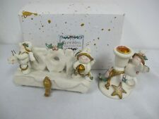 Nancye Williams Christmas Angels Candle Holder- Joy Stocking Holder -Sprinkles