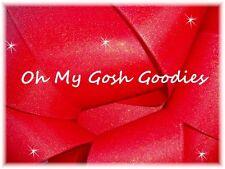 "3"" GLITTER SOLID GROSGRAIN CHEER CHEERLEADER SPIRIT TEAM RIBBON 4 HAIRBOW RED"