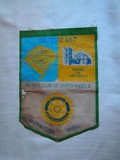 VINTAGE ROTARY CLUB PENNANT BANNER SANTO ANGELO BRAZIL