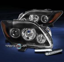 FOR 2008 2009 2010 SCION TC BLACK PROJECTOR HEADLIGHTS HEADLAMP W/LED DRL SIGNAL