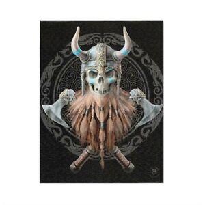 Viking Skull Wall Art Canvas by artist Lisa Parker 19cm x 25cm