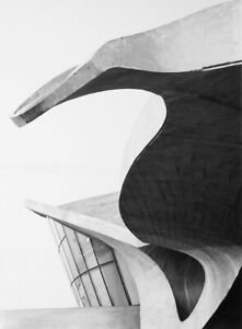 CHRIS BRUNO 50/60's KENNEDY AIRPORT ABSTRACT DETAIL - NEW YORK 8X10 PHOTOGRAPH